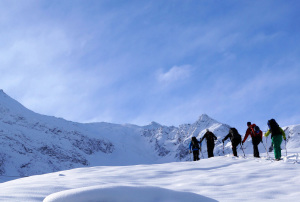 Winterwanderer unterschätzen oft Lawinengefahr.