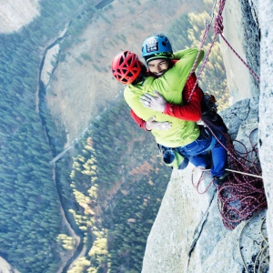 Bergsteiger am El Capitan, Yosemite National Park.